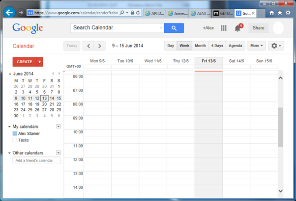 Login to Google Calendar